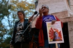 Speakers at the 8th annual march and vigil for missing justice.[Photo Credit: Lee-Ann Mudaly]
